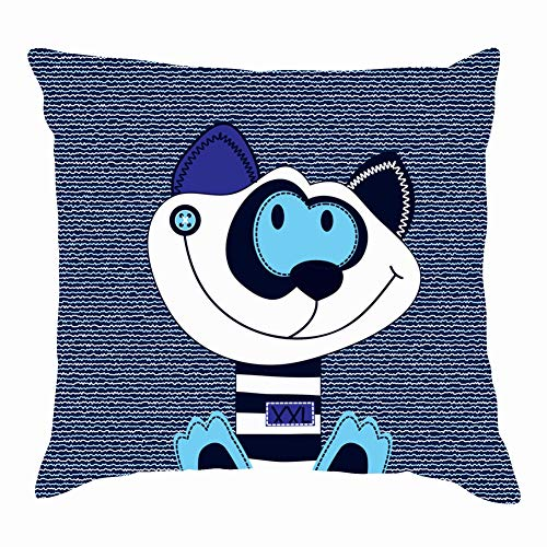 tuyi Cute cat Cartoon on Jeans backgorund Animals Wildlife Adorable Throw Pillow Covers Cotton Linen Cushion Cover Cases Pillowcases Sofa Home Decor 18