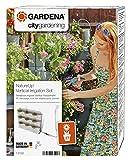 Gardena NatureUp Set vertical, grifo, sistema de riego invisible para hasta 27 plantas, posibilidad de conexión al programador