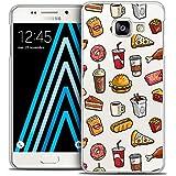 Caseink - Coque Housse Etui Samsung Galaxy A3 2016 (A310) [Crystal HD Collection Foodie Design Fast Food - Rigide - Ultra Fin - Imprimé en France]