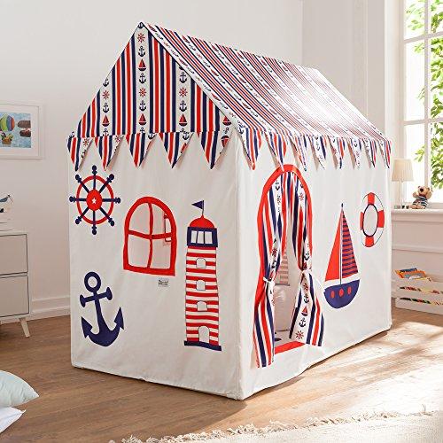 Howa Cabane de Jeux, Tente de Jeux « Sailor », y Compris Le Tapis de Sol 8507