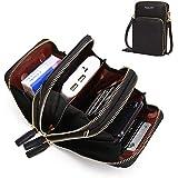 حقيبة كتف نسائية صغيرة من الجلد مطبوع عليها كروسبودي حقيبة سفر حقيبة يد حقيبة للهاتف المحمول حافظة حافظة للهاتف المحمول حامل