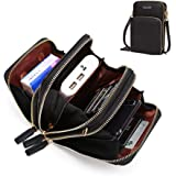 Womens Small Leather Crossbody Phone Purse Shoulder Bag Travel Messenger Handbag Pouch Cellphone Holster Cover Wallet Case Ca