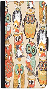 Snoogg Faces Of Owl Designer Protective Phone Flip Back Case Cover For Xiaomi Redmi Note 3