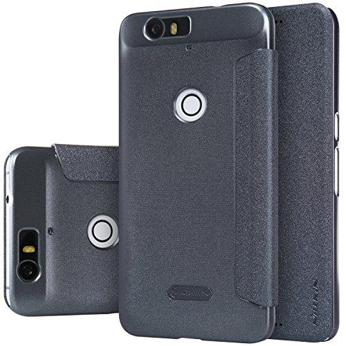 Nillkin Sparkle–Funda de piel para Huawei Nexus 6P, Color negro