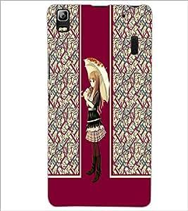 PrintDhaba Umbrella Girl D-4305 Back Case Cover for LENOVO K3 NOTE (Multi-Coloured)