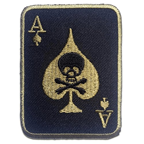Parches - Poker as calavera Biker - negro - 5.6x7.6cm
