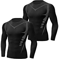 Sykooria Mens Compression Top Base Layer T-Shirt Quick Dry Sports T Shirt for Gym Fitness Running Workout