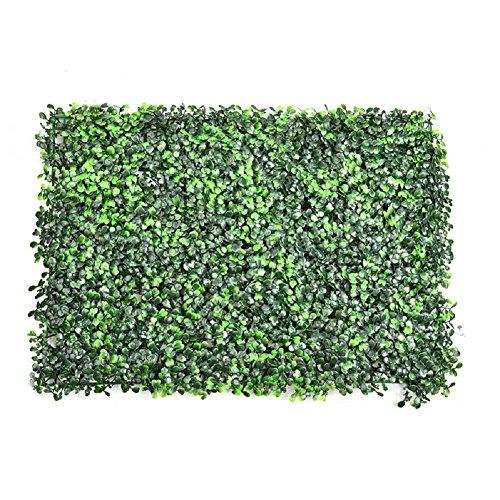 Planta artificial de boj artificial grass flor hoja cortasetos para adorno de decoración para el hogar, jardín, balcón y terrazas, interior al aire libre decoración de la pared 63x 44cm
