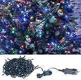 Lunartec Weihnachtslichterkette: LED-Lichterkette mit 320 LEDs für innen & außen, IP44, 4-farbig, 32 m (LED Ketten)
