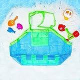 XL Größe Tasche faltbare für Sandspielzeug Wasserspielzeug, SunRun Netztasche Strandtaschen Kinderspielzeug Wasserspielzeug Spielzeugnetz Kinderspielzeug Aufbewahrungsnetz Taschen Einkaufstasche Reise Shopper Sand Kleidung Mode