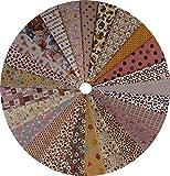 Grannycrafts 25 Pezzi 20x30cm Tessuti Stampato Cotone Tessuti e Stoffe a Metro Cotone Tessuti Stoffe per Patchwork Scampoli Stoffa Fatansia per Cucito Creativo Brown Series