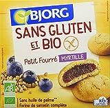 Bjorg Biscuits Petit Fourré à la Myrtilles sans Gluten Bio 180 g - Lot de 5