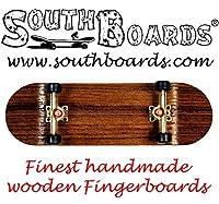 EDEL Fingerskateboard OAK/GO/SWZ SOUTHBOARDS® Handmade Wood Fingerboard Echtholz