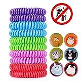 ACTOPP Bracelets Anti Moustique Pour Adultes et Enfants Protection Extérieure Intérieure 100% Naturel sans Deet 10 Packs 5 Couleur EVA