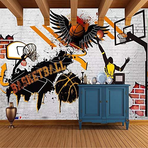 3D Wandbilder Tapete Basketball Poster Foto Hintergrundbild Für Schlafzimmer Wände Papel Tapiz Wandbild Papel De Parede 200 × 150 cm (Foto-basketball)