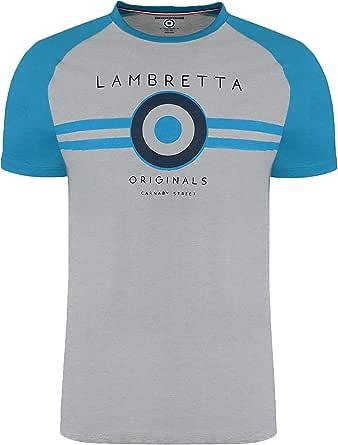 Lambretta Mens Classic Retro Mod Ska Casual Cotton T-Shirt