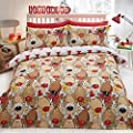 Rudolph Reindeer Christmas Quilt Duvet Cover Bedding Bed Set - low-cost UK light store.