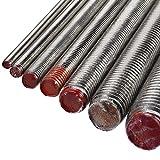 Gewindestange A4 Edelstahl M8 x 1000 mm - DIN 976 / DIN 975 - Gewindebolzen mit 8 mm Durchmesser und 1 m Länge - Werkstoff A4 (VA / V4A)