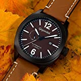 Gigandet Automatik Herren-Armbanduhr Red Baron III Fliegeruhr Uhr Datum Analog Braun Schwarz G16-001 - 2