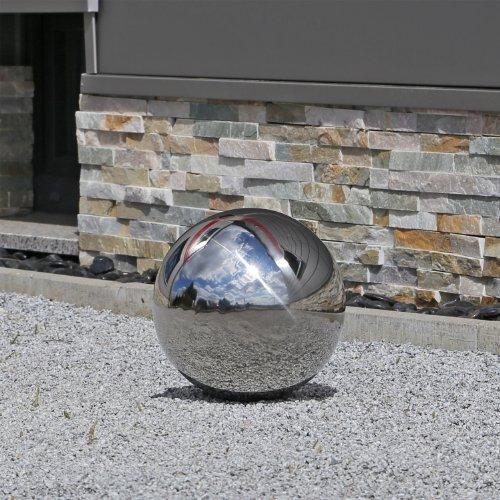 25 cm Edelstahl Kugel Deko poliert Garten V2A Stahlkugeln