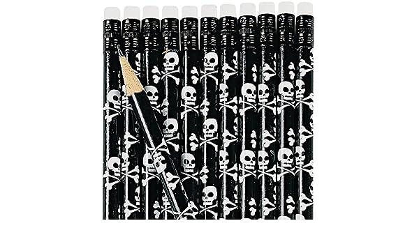 6 X Bleistift Pirat Piratenparty Skelett Geburtstag Mitgebsel
