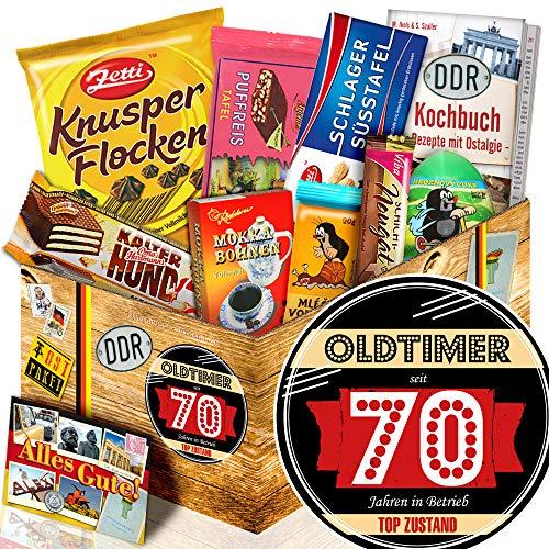 Oldtimer 70 + Geschenke zum 70 Geburtstag + Schokoladen Box Ostpaket