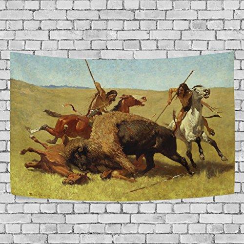 Bennigiry Native American Indian Art Wandteppich für Polyester-Artwork Leichtes-Cottage Wohnheim Art Wand Dekoration zu Hause 152,4x 101,6cm, Polyester, multi, 60x40(in) -