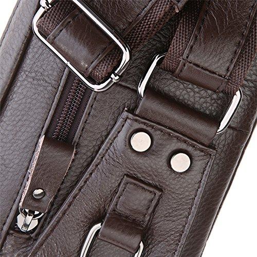 Genda 2Archer Bolso de la Cintura los Hombres de Cuero, Bolso de Hombro, Correa del Teléfono 5.5inch