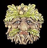 Waldgeist Wandrelief - Eichel Gesicht | Fantasy Baumschmuck Figur Garten