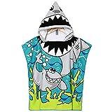 APERIL Asciugamano Poncho da Bambino per Spiaggia, Bagno con Asciugamano con Cappuccio, Bambino in Microfibra, Cartone Animat