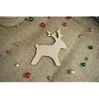 20 pack 40mm 'Hanging Cute Reindeer Shape' Craft Shape, Craft Embellishments, Made from Medite Premier MDF