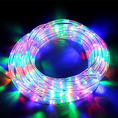 Etime LED Lichtschlauch Lichterkette Lichterschlauch Lichterkette Set Innen- und Außenbereich Bunt (20M Bunt)