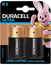 Duracell Ultra Alkaline D Batteries (Pack of 2)
