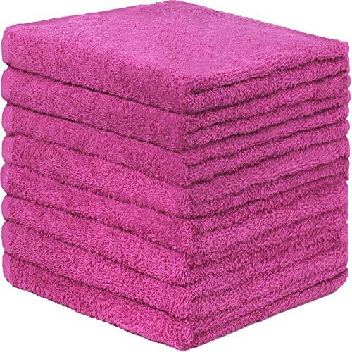 GREEN MARK Textilien 8er Pack Frottier Handtücher mit Aufhänger 50x100cm Handtuch 100{2d2eb1e5a812ba2570a7446c5b64c6c19552e5b64e7047b4d04fdfc765ccc377} Baumwolle Farbe: Pink