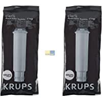 Lot de 2 cartouches filtrantes Krups Claris F088 pour machine à café