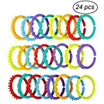 YeahiBaby 24pcs Baby Teether Ring Link Rings Toys Infant Links Rattle Strollers Crib Travel Toys