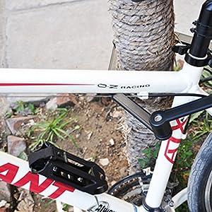 Candado para bicicletas con cable plegable