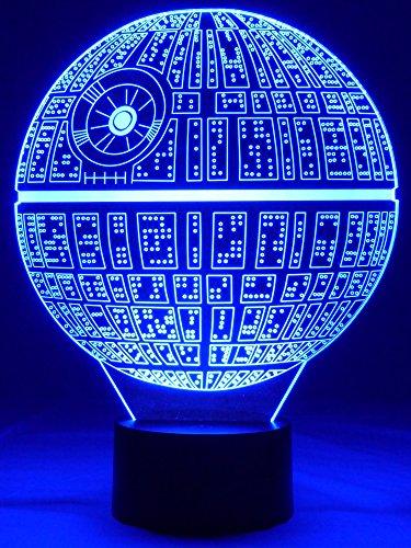 Lampe originale 3D LED étoile de la mort