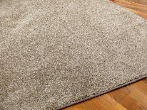Snapstyle Hochflor Velours Teppich Luna Taupe in 24 Größen -