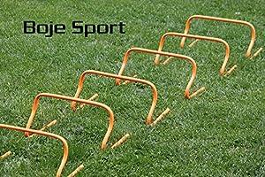 agility sport pour chiens - lot de 6 mini-haies, hauteur: 23 cm