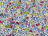 Katzen Print Polycotton Kleid Stoff