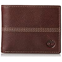 Timberland Mens Leather Sports Quad Pebbled Bifold Wallet