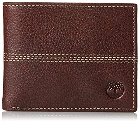 NEW Genuine TIMBERLAND Mens Textured Leather Bifold Wallet (With Gift Box) - D08389 (Brown)