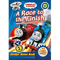 Thomas and Friends: A Race to the Finish (Sticker Scene Book) (Thomas & Friends)