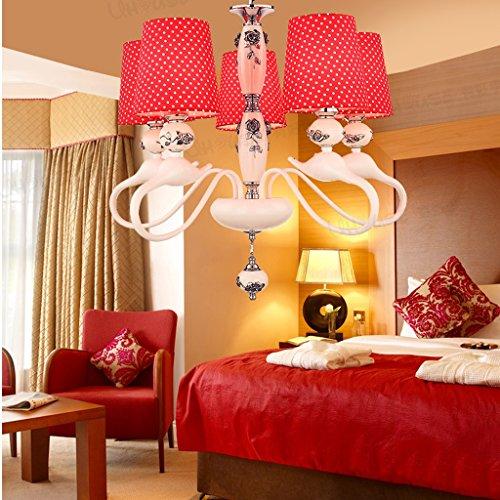 Candelabro Rojo nobles lámparas europeas sala dormitorio