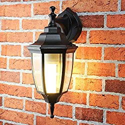 Licht-Erlebnisse Lyon–Aplique rústico de pared para exterior, E27hasta 60W, 230V, IP44, impermeable, lámpara para patio y jardín