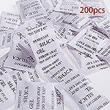 200pcs sacos de Gel de sílice desecante absorbe la humedad agente de...