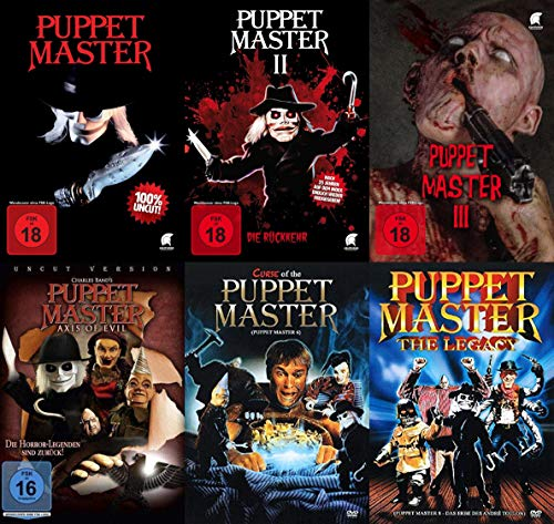 6er PUPPET MASTER Collection Teil 1 2 3 + Axis Of Evil + Curse Of The Puppet Master + Legacy DVD Edition (Les Douglas Paul Case)