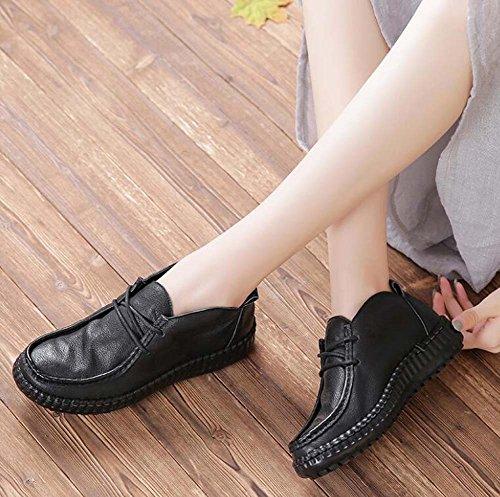 Scarpe da donna in pelle scarpe casual Scarpe da polso scarpe da sole scarpe da ginnastica scarpe da sposa scarpe da sposa scarpe da sposa Scarpe Martin Scarpe da uomo Eu Size 34-40 ( Color : Black , Size : 35 )