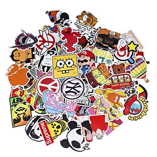 Neuleben Aufkleber Pack [100-pcs] Graffiti Sticker Decals Vinyls für Laptop, Kinder, Autos, Motorrad, Fahrrad, Skateboard Gepäck, Bumper Sticker Hippie Aufkleber Bomb wasserdicht (Serie-5)